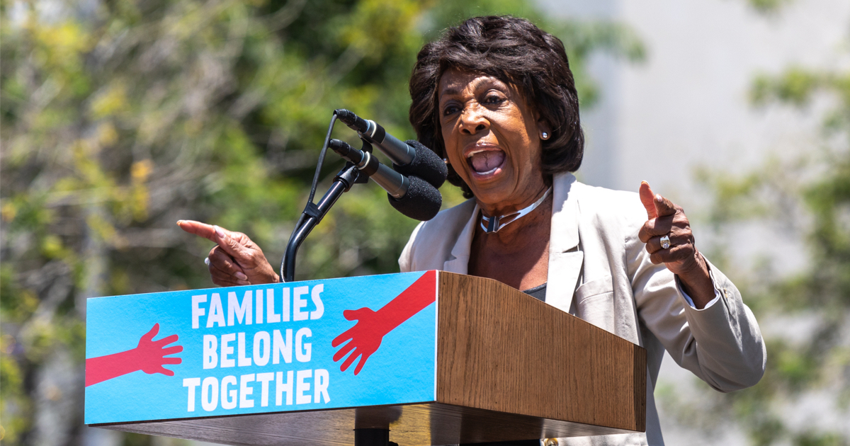 Maxine Waters Finds Way to Blame President Trump for George Floyd's Death
