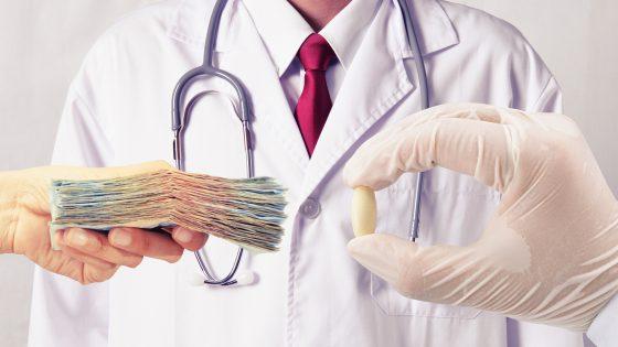 Big pharma drug money doctor health
