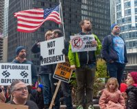 Pro-Impeachment Protesters Interrupt Veterans Day Celebration